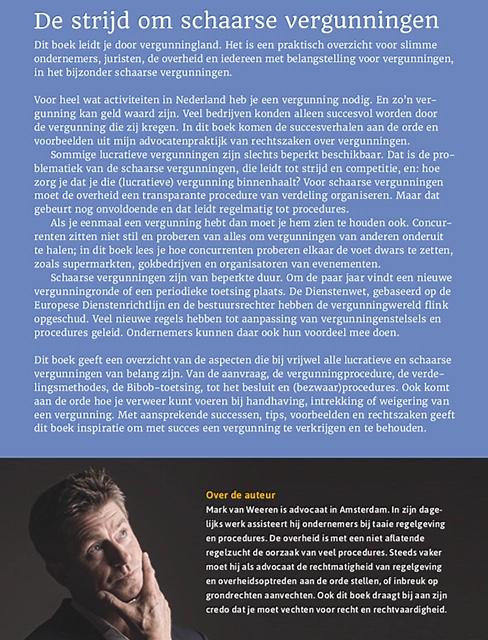 Boek De Strijd om Schaarse Vergunningen van Mark van Weeren